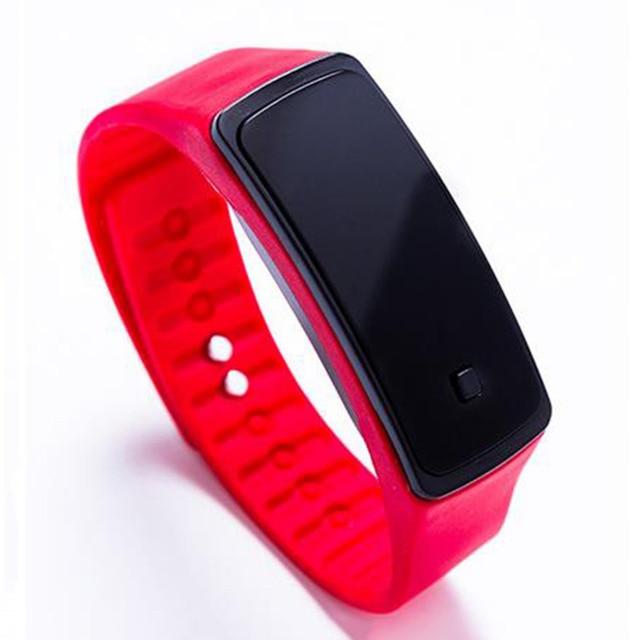 Fashion spor saat Horloge Sports Waterproof Digital Wrist Watch Silicone Band LE