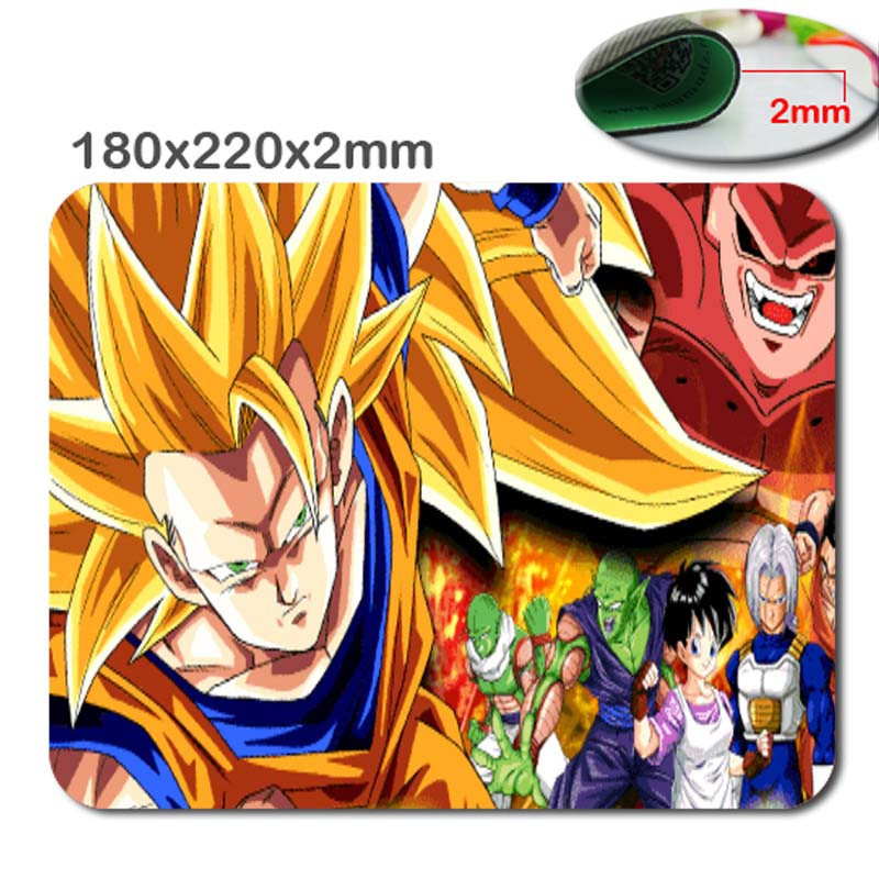 DIY Custom Dragon Ball Z Gaming Rubber Large soft E-Sport Fashion Antiskid Durable Mouse Pads As Gift 220x180x2mm&250x290x2mm