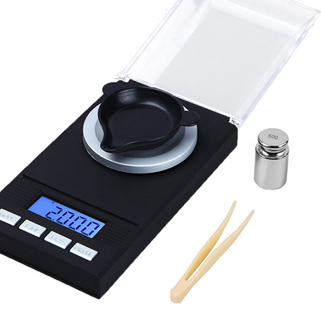 Mini LCD Digital Jewelry Lab Weight Scales 20g/50g/100g x 0.001g High Precision Medicinal Portable Mini Electronic Balance Scale weiheng 50g 0 001g jewelry lcd digital scale lab weight milligram scale balance diamond carat electonic scales high precision