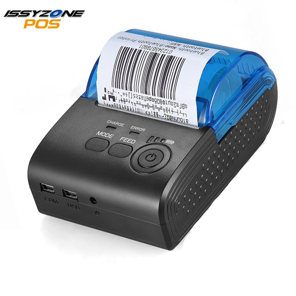 58mm Thermal Printer Mini Bluetooth For Android IOS Issyzonepos Portable Mobile Receipt Barcode POS Printer Restaurant Hotel SDK