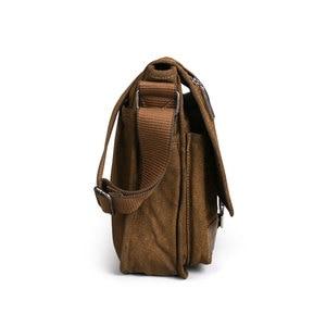 Image 5 - Retro Canvas bag men shoulder bags leisure wear resistant cross messenger bag Unisex casual crossbody Bags Leisure Package