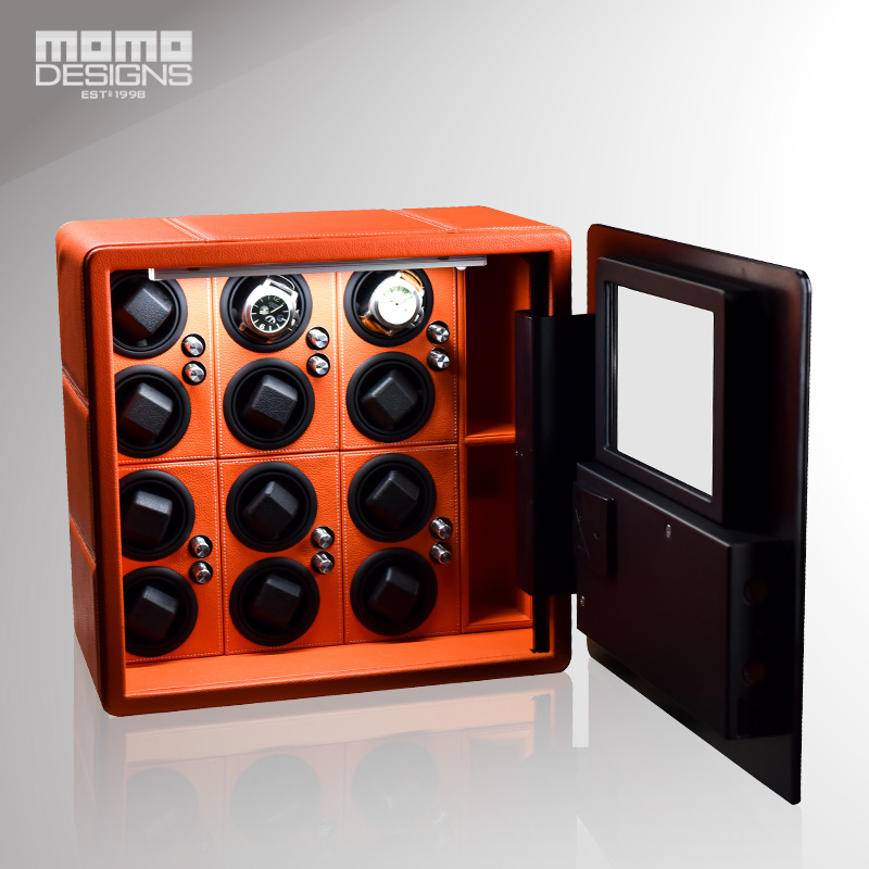 Intelligent Safe Box for 12 Automatic Watch Winder Display 9 Watches storage with LCD touch screen Hidden strongbox ...