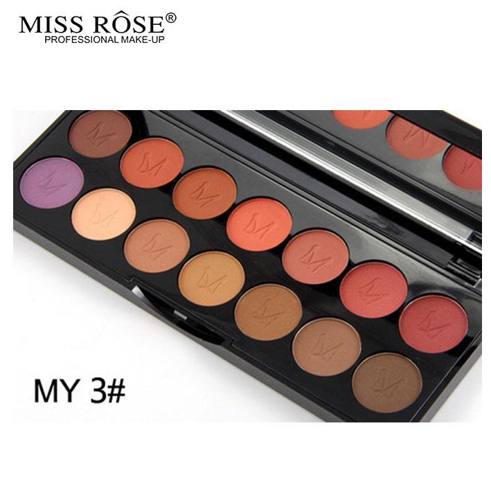 2016 MISS ROSE Shimmer 14colors diamond bright colorful eye shadow super flash paleta Glitter eyeshadow pallete matte Eyeshadow9