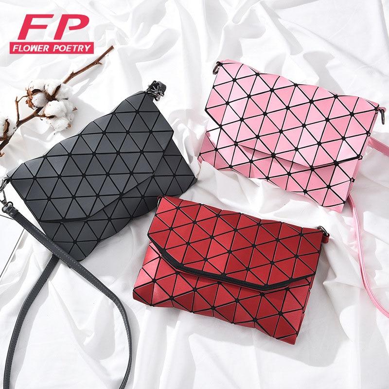 New Luminous Bao Bag Women Messenger Shoulder Bags For Women 2017 Casual Clutch Evening Bag Fold Over Handbags Geometric Bao Bag