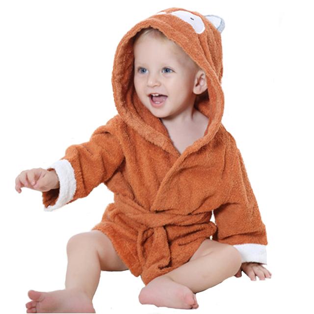 Poncho de algodão animal do bebê roupão de banho com capuz roupão de banho do bebê dos desenhos animados toalha crianças roupão de banho infantil toalha com capuz 10 cores