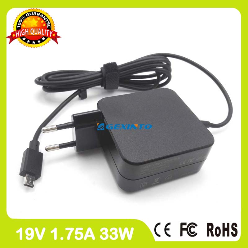 цена на 19V 1.75A 33W Power Adapter for ASUS E200 E200H E200HA E202SA T100Ha TP200S TP200SA L200H L202SA charger EU Plug