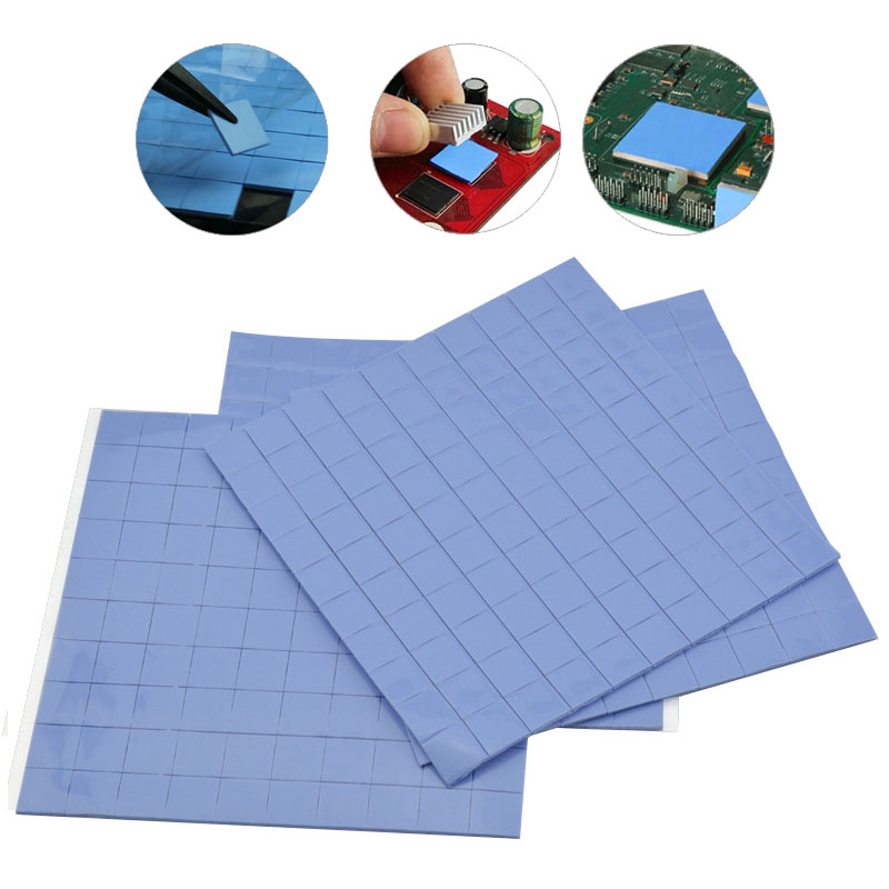 10x10x1mm100PCS GPU CPU PS3 PS2 XBOX Heatsink Cooling Thermal Conductive Silicone Pad Works For TV Boards Proper Electronics