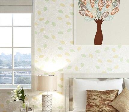 Купить с кэшбэком Pastoral Style Leaves Wallpaper Living Room Bedroom Diningroom Home Wall Paper Roll