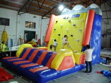 2017 PVC commercial grade inflatable climbing wall /inflatable sports game for kids and adults /factory customized game