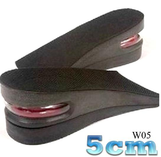1 Pairs Air Cushion Insoles  Increase Height Half  Shoe Pads  Ergonomic Design 2 Layer 5cm 2.5