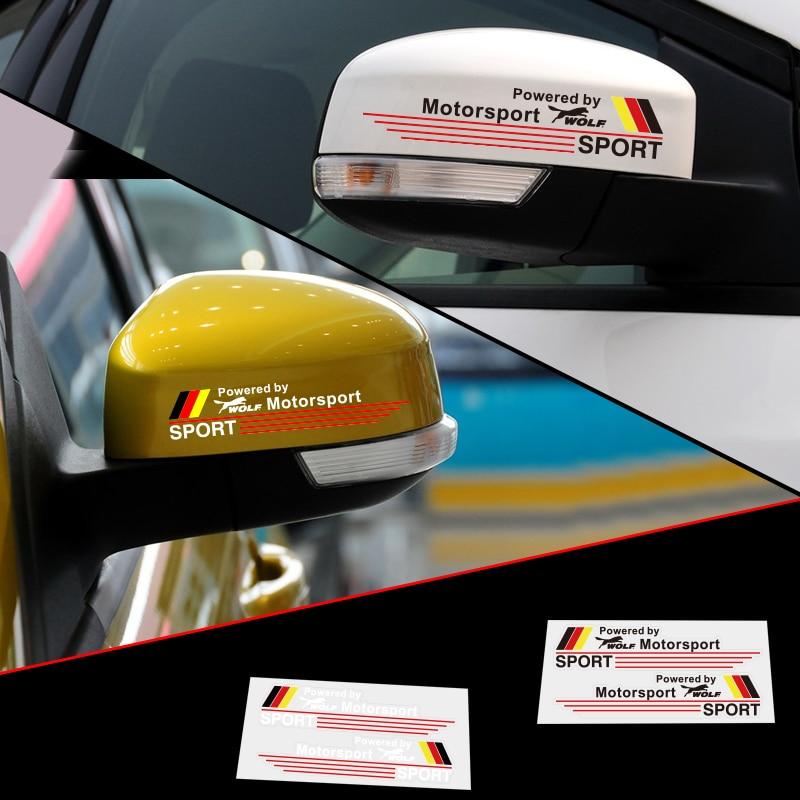 ᗚ2 x reflectante coche Accesorios coche retrovisor espejo pegatina ...