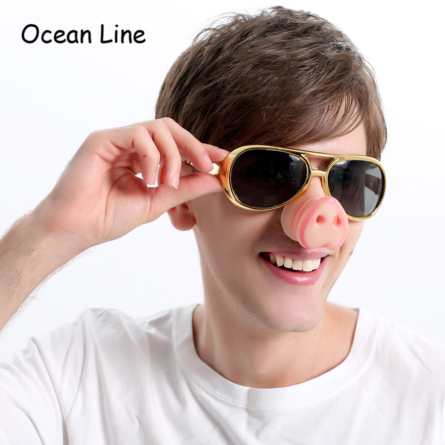Capable Funny Mustache Design Sunglasses Creative Holiday Cosplay Costume Glasses Accessory Without Return Men's Eyewear Frames Men's Glasses