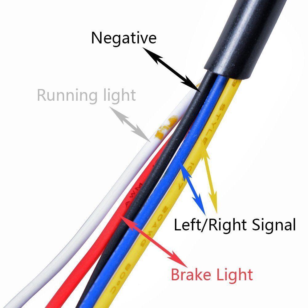 Triclicks 80W mootorratta saba lambi uus integreeritud LED-signaali - Mootorrataste tarvikud ja osad - Foto 5