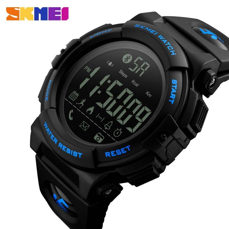 SKMEI Fashion Smart Watch Men Alarm Calories Pedometer Remote Camera APP Reminder Outdoor Sport Waterproof Wrist Watches Relogio
