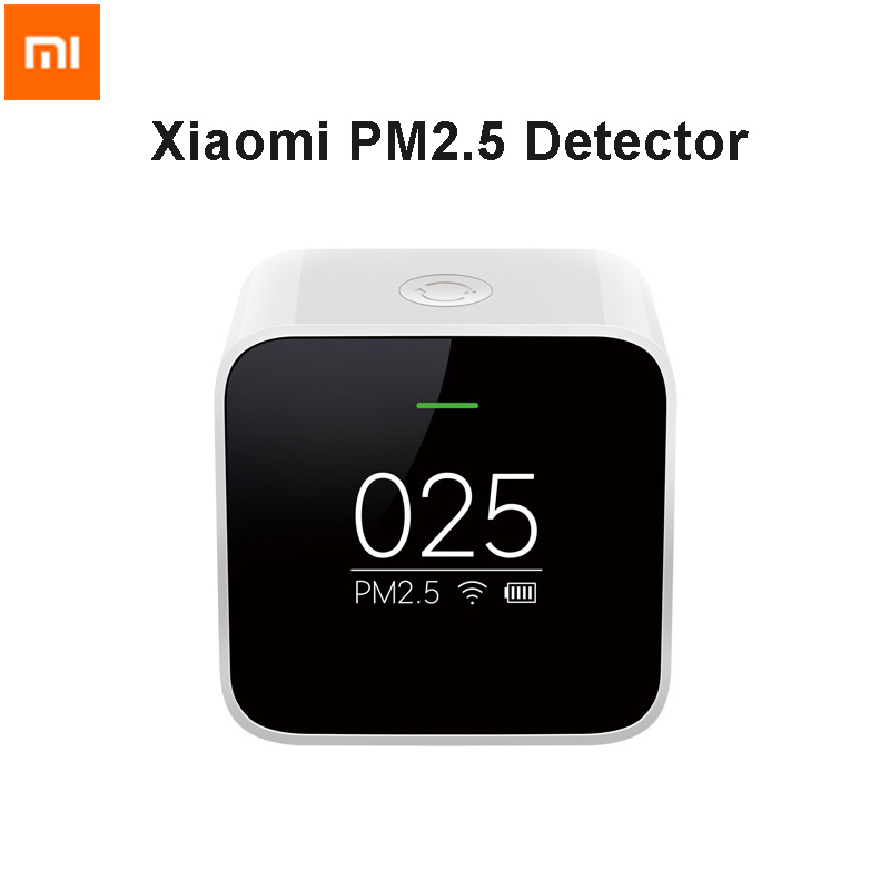 Original Xiaomi Mi PM2.5 Detector Know Your Air Anytime Anywhere Helps Track Real Time Air Quality Clock Mode Cute Portable xiaomi mi notebook air 12 5