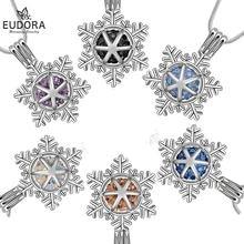 Ожерелье с подвеской в виде снежинки 6 цветов