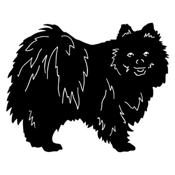 16*12.7CM Pomeranian Dog Vinyl Decal Endearing Car Stickers Car Styling Bumper Decoration Black/Silver S1-1139 image