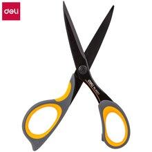 DELI ножницы E6027 тефлоновые покрытые мягкие сенсорные 175 мм 6-4/5 дюймов домашние Офисные ножницы ручные ножницы канцелярские принадлежности