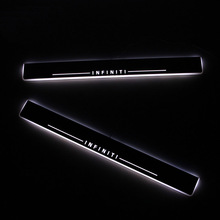SNCN LED Car Scuff Plate Trim Pedal Door Sill Pathway Moving Welcome Light For Infiniti QX70 2013 2014 2015 Accessories Acrylic stainless ewb steel led scuff plate door outside sill sills trim car accessories welcome pedal led for lexus is 2013 2015