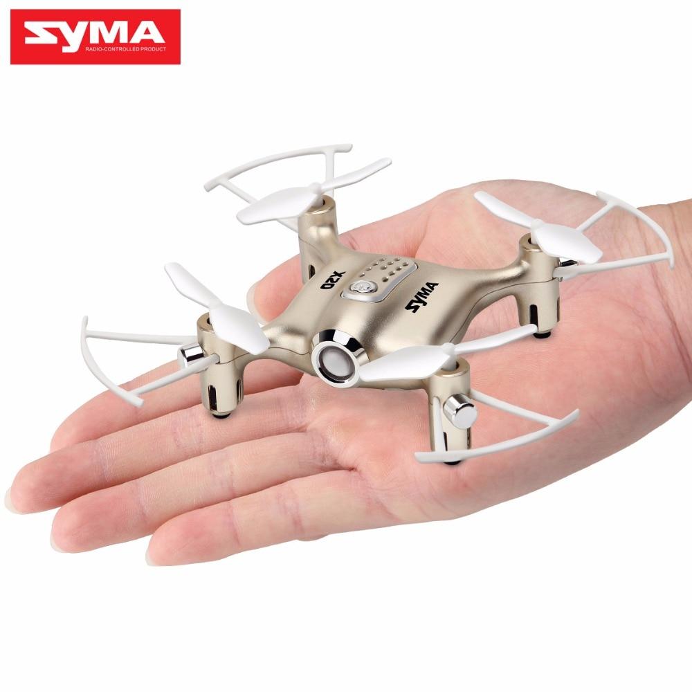 Mini Drone RC Dron SYMA X20 Quadcopter 2.4G 4CH 6-aixs Gyro RTF with Headless Mode Altitude Hold 3D-flip Latest Aircraft