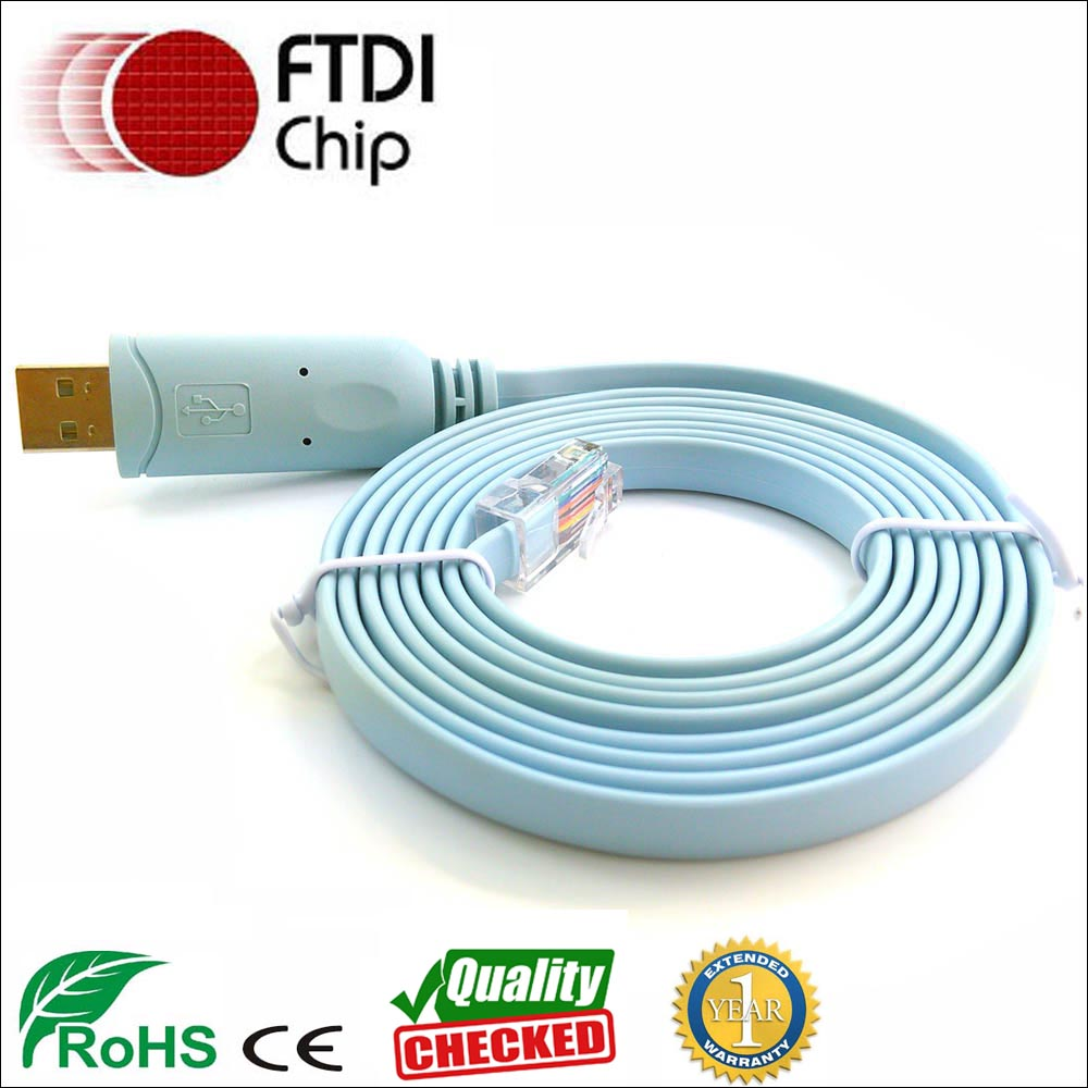 FTDI USB RS232 Serial to RJ45 Console Adapter Cable for Cisco//Huwawei Routers