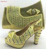 Doershowイタリア靴とバッグセットイタリア靴とマッチングバッグナイジェリア靴とマッチングバッグレディー靴やバッグセットPMB1-10