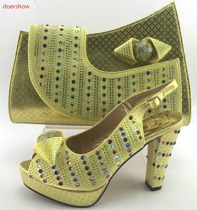 doershow Italian Shoes and Bag Set Italian Shoes with Matching Bag Nigerian Shoe and Matching Bag lady Shoe and Bag Set  PMB1-10 italian visual phrase book