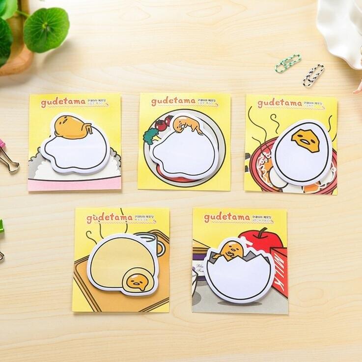 48pack/lot Cute Lazy Egg Cartoon Gudetama Memo Pad Sticky Notes Bookmark School Office wholesale