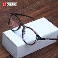 D crius quadro vidros ópticos para as mulheres das mulheres óculos óculos vintage rebite proteção contra radiação filme verde lente nova