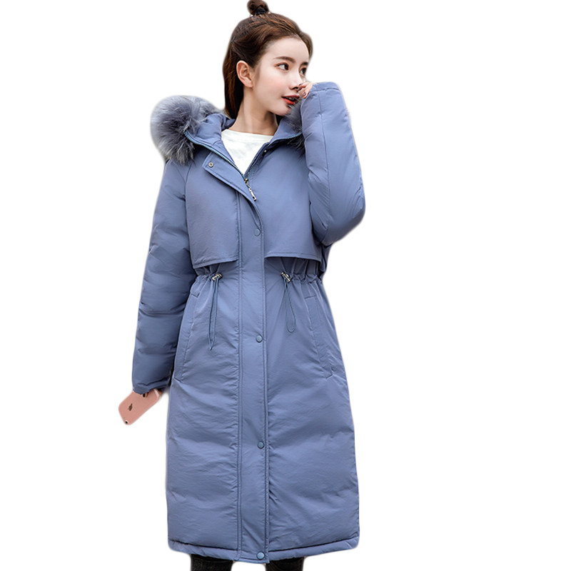 Coton Vestes Down Fourrure Poche Femmes Parkas Couleurs Épais De D'hiver 3 blue Grand Capuchon Outwear Femme D713 À beige White Neige Black Chaud Long Col Manteau 2019 Y0pOWnO