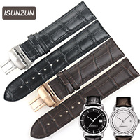 ISUNZUN ISUNZUN Men Watch Straps For Tissot T086407A T086 Genuine leather Watch Band Nato Leather Strap 22mm Men Wath Band
