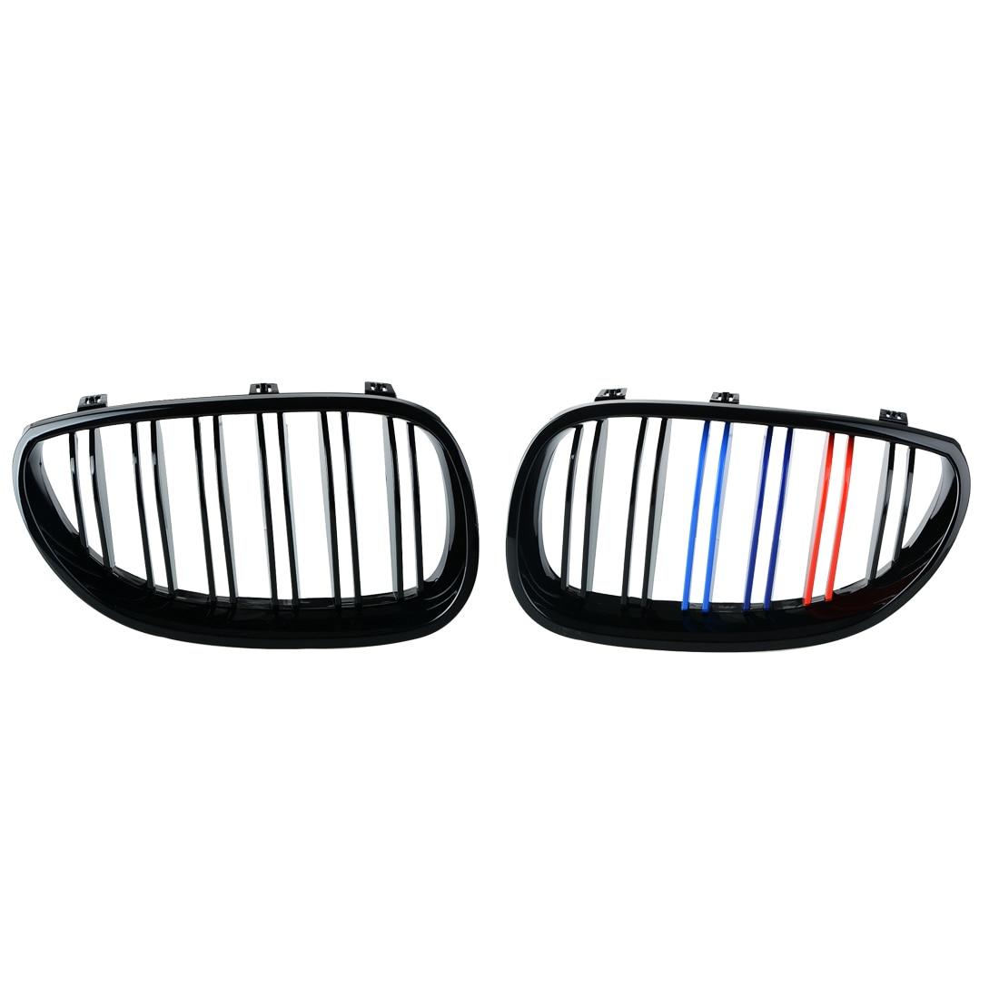 1 Pair Gloss 3 Color Carbon Fiber Black M5 Style Auto Car