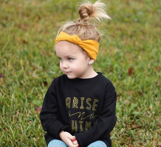 New cotton fabric flower handmade knot bow elastic headband children turban  headband fashion children headband kids headband 88a8e5d7953
