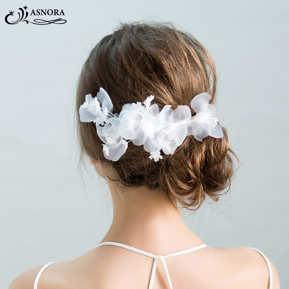 ASNORA Headbands Hairwear Flower Cabelo-De-Noiva-Accessories Brides Handmade Fashionable