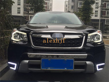 LED Daytime Running Lights DRL LED Fog Lamp case for Subaru forester 2013~ON Deluxe Edition, CJ, 1:1 replacement, free shipping