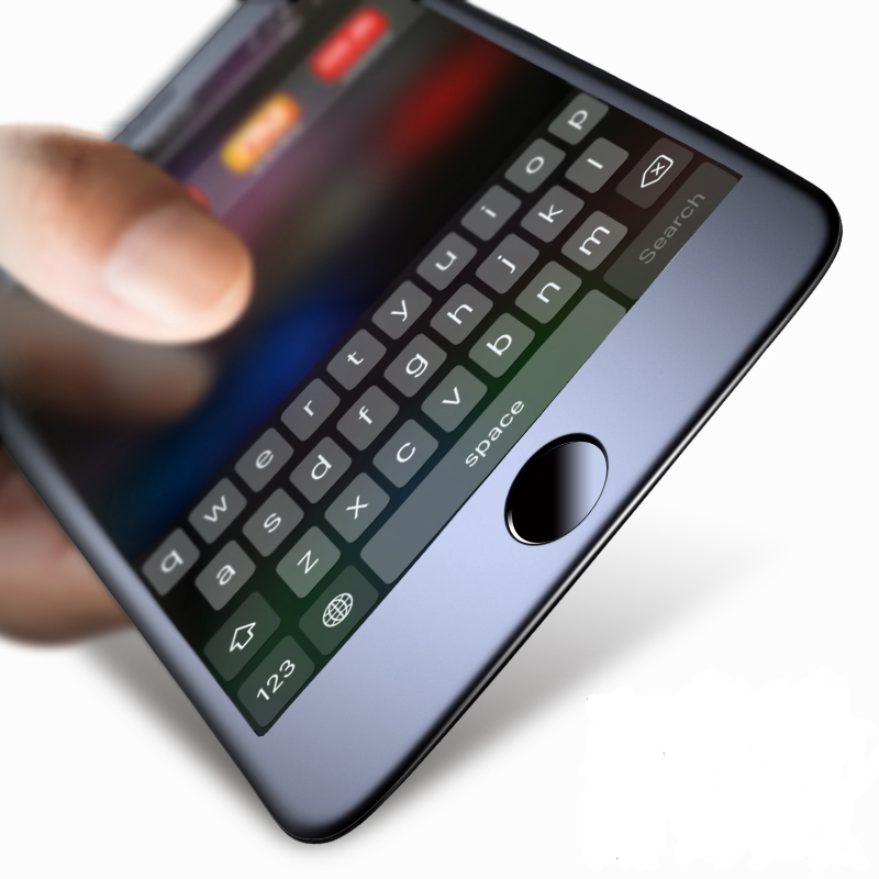 Verre trempé givré Oppselve pour iPhone X 10 verre trempé 3D Film de verre protecteur de bord doux bleu pour iPhone 7 8 Plus