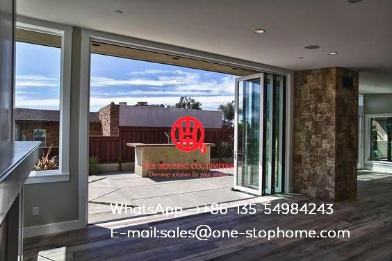 Australian Standards Folding Aluminum Door Partition,soundproof Folding Interior Door,double/triple Glazing Tempered Glass Door