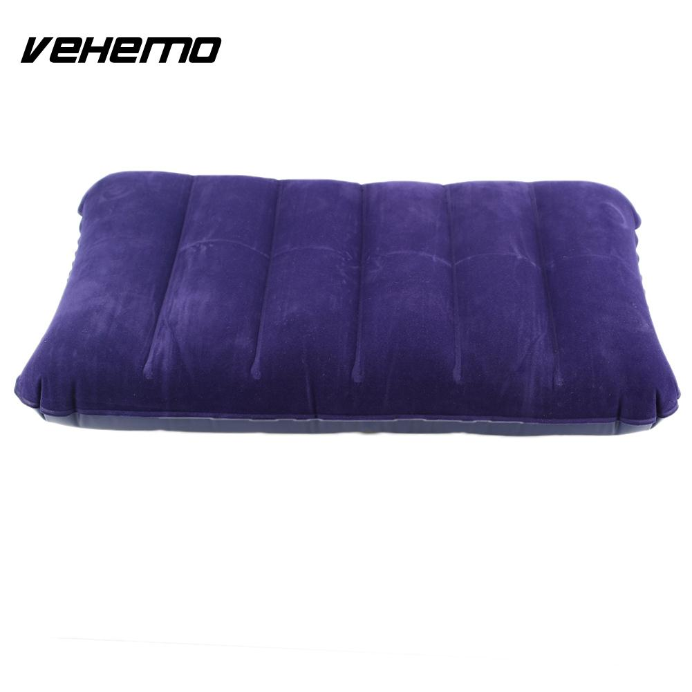 Travel Portable Camping Dark Purple Air Cushion Head Rest Portable Car Inflatable Cushion Camping Car Inflatable Seat Cover
