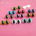 40pcs/lot new arrvial 9mm toy cat eyes plastic safety eyes beads for doll accessories--color option