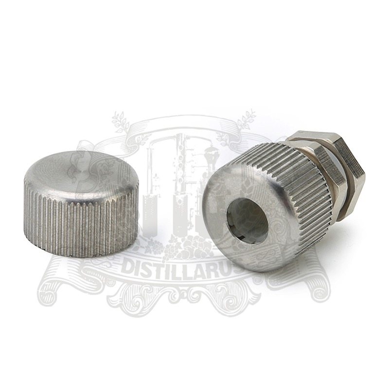 Thermowell nipple stainless steel 4-11mm with and cap. Silicone seal.