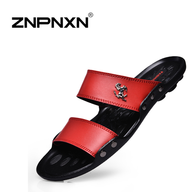 22885c1ced95f8 Famous Brand Casual Men sandals Slippers Summer Shoes Beach flip flops fast  shipping