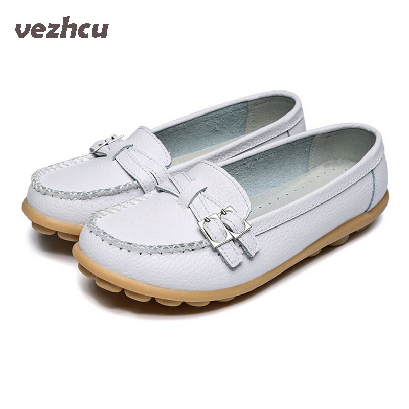 VZEHCU Shoes Woman  Genuine Leather Women Shoes Flats Fashion Loafers Slip On Women's Flat Shoes Moccasins  ac52 pl us size 38 47 handmade genuine leather mens shoes casual men loafers fashion breathable driving shoes slip on moccasins