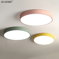 Height 5CM Ceiling Lights Macaron Color In Round Shape Lighting Ceiling Lamp Fixture For Living Room