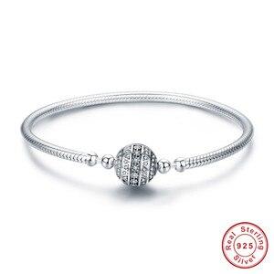 Image 3 - Браслет из серебра 925 пробы, браслет из серебра 925 пробы с подвеской в виде кошачьего сердца, браслет для изготовления ювелирных украшений