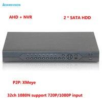 1080 P CCTV Камера hi3521a 32CH 32 канала 2 SATA 1080n Гибридный коаксиальный Onvif IP NVR AHD DVR