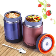 700ml Stainless Steel Vacuum Therma Box Insulated Food Soup Container Jar Flask