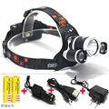 T6 Xm-L Led Headlight 5000Lm Headlamp Flashlight Head Torch Linterna  Xml T6 With 18650 Battery/Ac Car Charger Fishing Light
