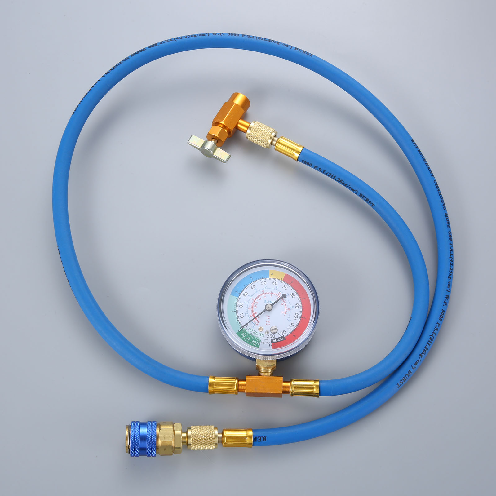 Image 5 - Car AC Air Conditioning R134A Conditioning Refrigerant Recharge Hose w/ Pressure Gauge Can Opener Quick Coupler-in Air-conditioning Installation from Automobiles & Motorcycles