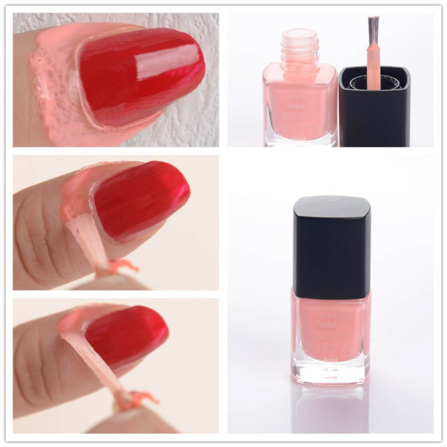 6ml Pink Born Pretty Liquid Tape & Peel Off Base Coat Nail Art Liquid Palisade Nail Art Latex High Quality CAN NOT USED IN COLD