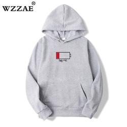 WZZAE 2018 Low Help Me Hoodies Men 3D Creative Hooded Sweatshirts Fashion Streetwear Hip Hop Black Hoodie Male Plus Size S-XXL 4